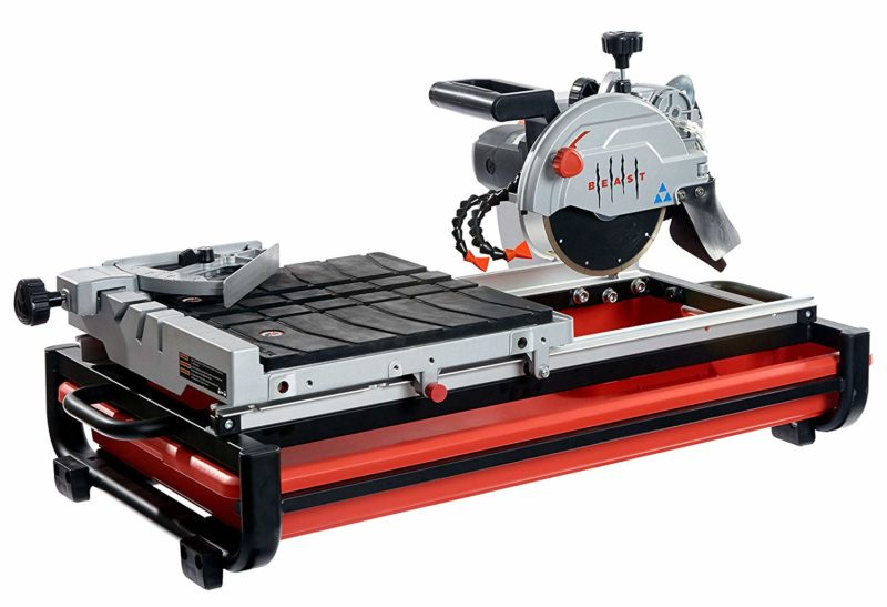 """2 1//2 Horsepower 10/"""" Industrial Tile And Brick Saw 2.5 HP"""